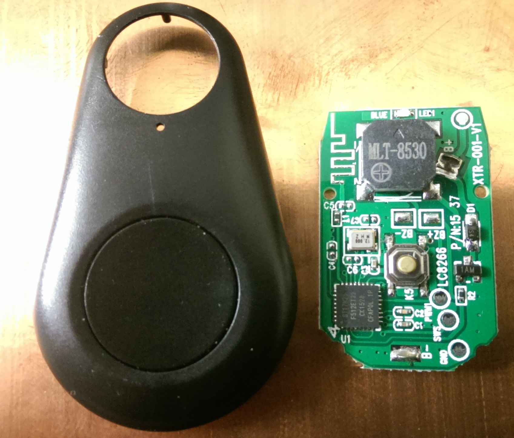Button and PCB