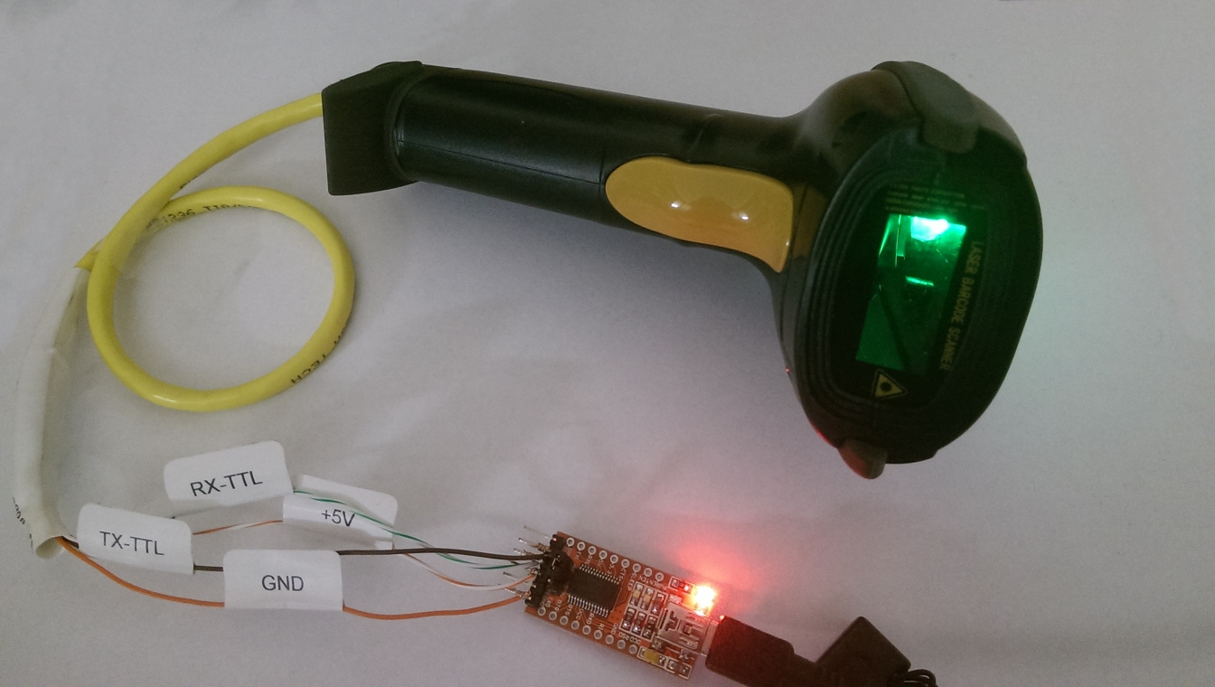 1d Barcode Scanner Wiring Up A Emergency Light Picture Of The Mj 4209 Laser Hooked To An Ftdi Serial